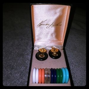 Kenneth Jay Lane Vintage Interchangeable Earrings